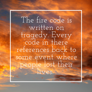 john brunett on fire code