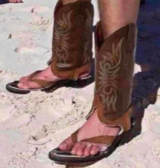 Boot flops - From 9 Things that Mean Something Different in the South