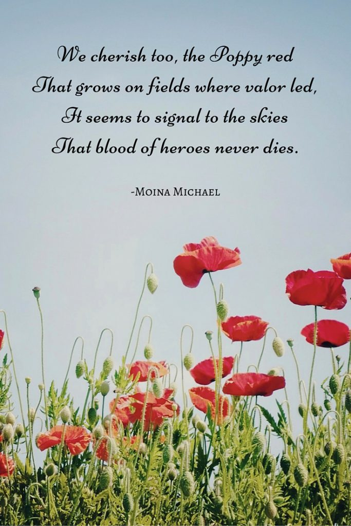 red poppy poem for ways to celebrate memorial day