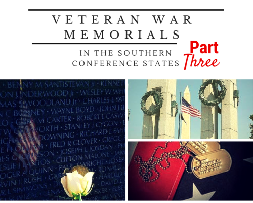 Veteran War Memorials in the Southern Conference States – Part 3