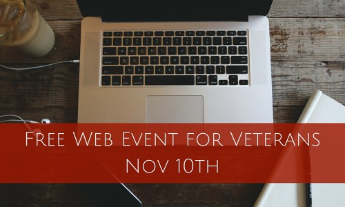Free Web Event for Veterans Nov 10th